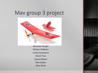Mav  group 3 project
