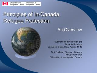 Principles of In-Canada  Refugee Protection