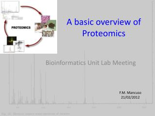 A basic overview of Proteomics