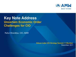 Silicon India CIO Strategy Summit 11 Mumbai December 2011