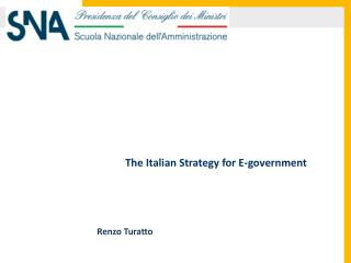 The Italian Strategy for E-government