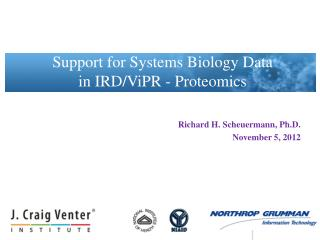 Richard H. Scheuermann, Ph.D. November  5 , 2012