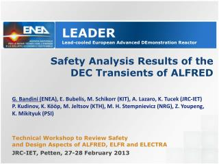Safety Analysis Results of the  DEC Transients of ALFRED