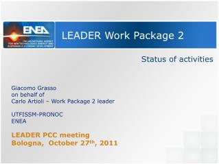 LEADER Work Package 2
