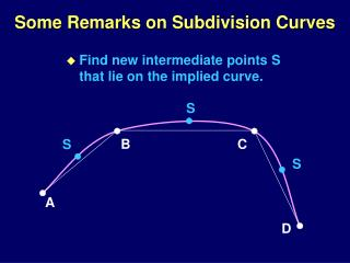 Some Remarks on Subdivision Curves