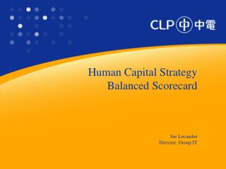 Human Capital Strategy Balanced Scorecard