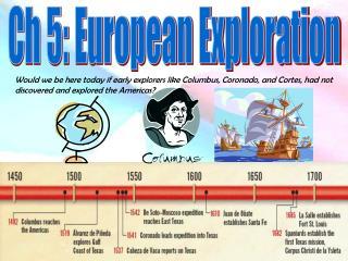 Ch 5: European Exploration