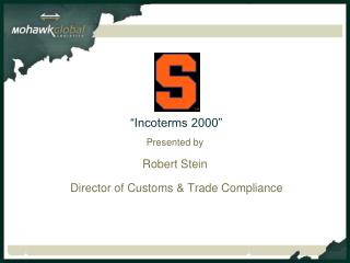 """Incoterms 2000"""