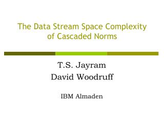 The Data Stream Space Complexity of Cascaded Norms