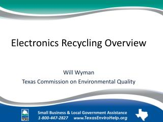 Electronics Recycling Overview