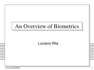 An Overview of Biometrics