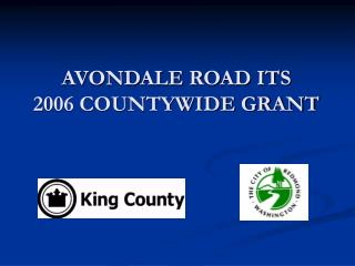 AVONDALE ROAD ITS 2006 COUNTYWIDE GRANT