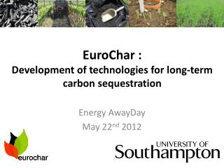 EuroChar :  Development  of technologies for long-term carbon sequestration