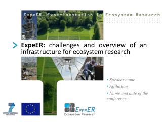 ExpeER:  challenges and overview of an               infrastructure for ecosystem research
