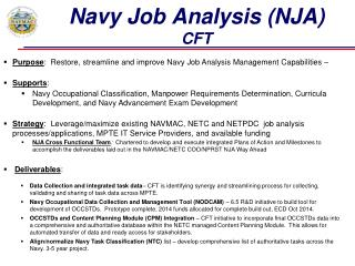 Navy Job Analysis (NJA)  CFT