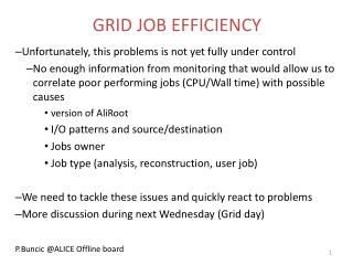 GRID JOB EFFICIENCY