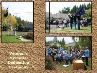 Veteran's Memorial Dedication Ceremony