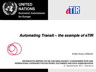 Automating Transit – the example of eTIR