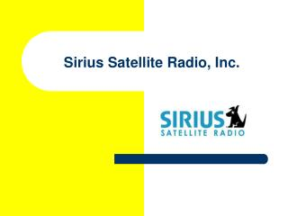 Sirius Satellite Radio, Inc.