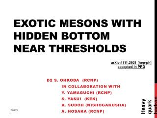 Exotic mesons with hidden bottom near thresholds