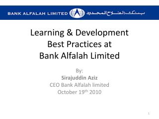 Learning & Development Best Practices at  Bank Alfalah Limited