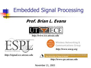 Embedded Signal Processing