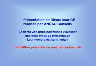 Pr sentation de Bilans pour CE r alis s par ANDAO Conseils