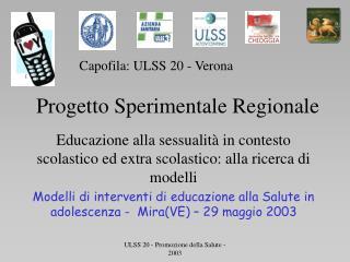 ULSS 20 - Promozione della Salute - 2003