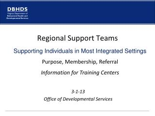 3-1-13 Office of Developmental Services
