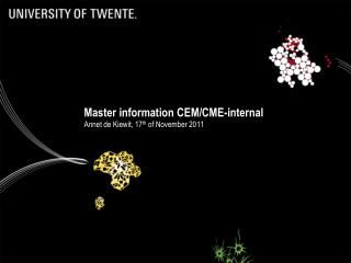 Master information CEM/CME-internal