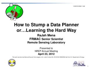 How to Stump a Data Planner or…Learning the Hard Way