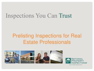 Prelisting Inspections for Real Estate Professionals