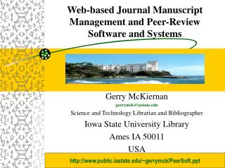 Web-based Journal Manuscript  Management and Peer-Review  Software and Systems