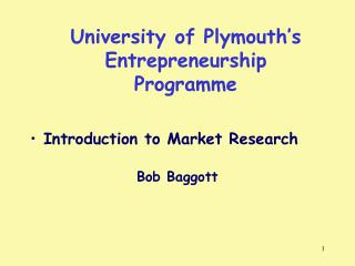 University of Plymouth's Entrepreneurship Programme