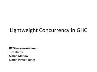 Lightweight Concurrency in GHC