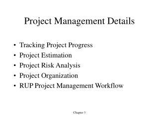 Project Management Details