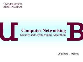 Computer Networking Security and Cryptographic Algorithms