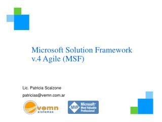 Microsoft Solution Framework v.4 Agile MSF
