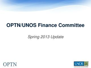 OPTN/UNOS Finance Committee