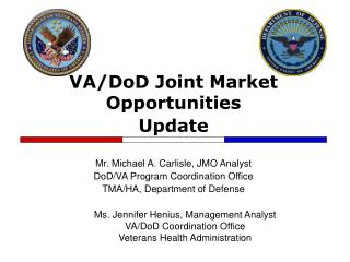 VA/DoD Joint Market Opportunities Update