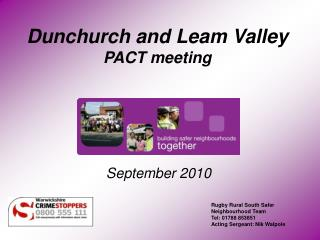 Dunchurch and Leam Valley PACT meeting