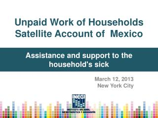 Unpaid Work of Households Satellite Account of  Mexico