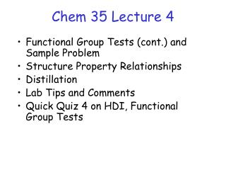 Chem 35 Lecture 4
