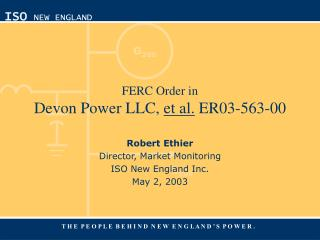 FERC Order in Devon Power LLC,  et al.  ER03-563-00
