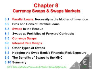 Chapter 8  Currency Swaps & Swaps Markets