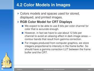 4.2 Color Models in Images
