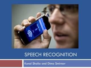 Speech recognition