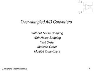 Over-sampled A/D Converters