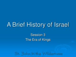 A Brief History of Israel