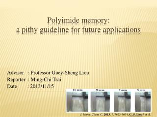 Polyimide memory:  a  pithy guideline for future applications